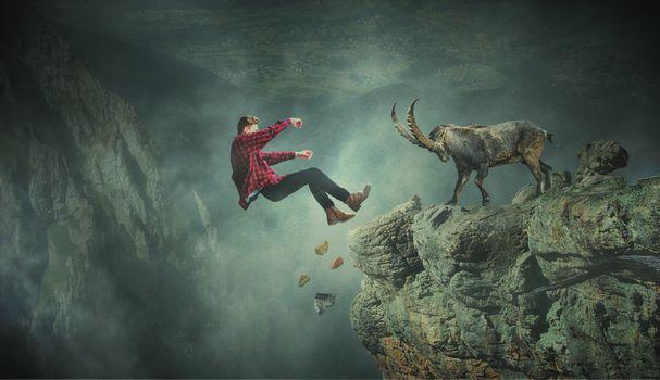 Photo free mountains, goat, landscape