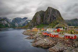 Заставки Лофотенские острова, пейзаж, Норвегия