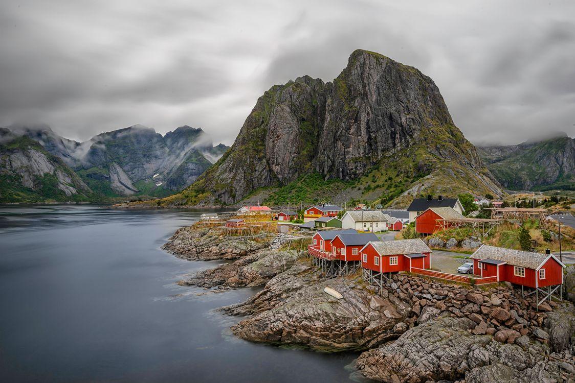 Фото бесплатно Лофотенские острова, пейзаж, Норвегия, пейзажи
