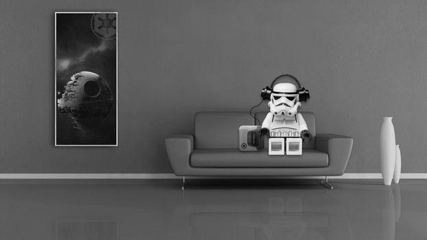 Фото бесплатно штурмовик, Звездные войны, Лего