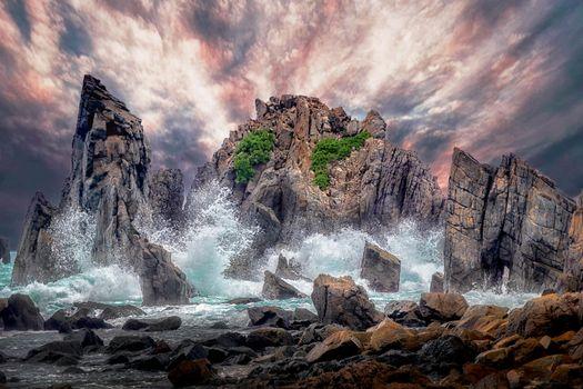 Фото бесплатно пейзаж, шторм, закат
