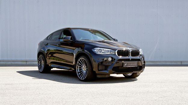 Фото бесплатно BMW X6, черный, вид сбоку