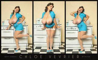 Photo free chloe vevrier, model, brunette