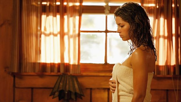 Photo free Jessica Biel, towel, actress