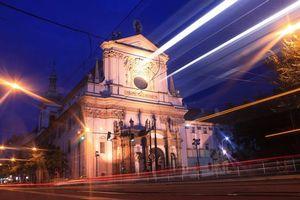 Обои Прага, Чехия, ночь, огни