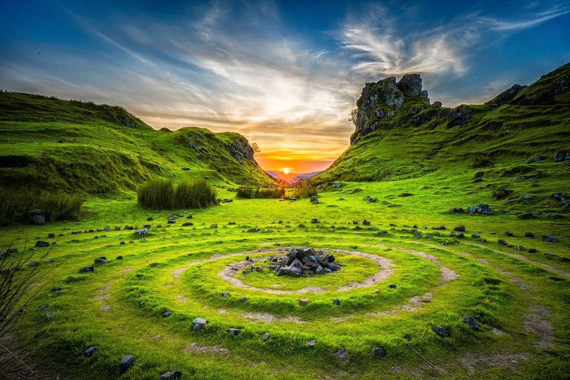 Фото бесплатно Sky, Шотландия, закат - на рабочий стол