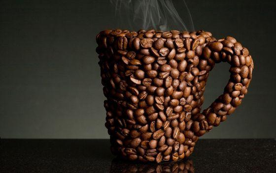 Фото бесплатно кофе, зерна, горячие