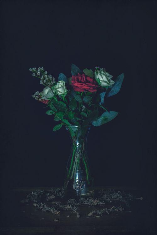 Картинка розы, букет, ваза, roses, bouquet на рабочий стол. Скачать фото обои цветы