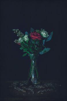 розы,букет,ваза,roses,bouquet