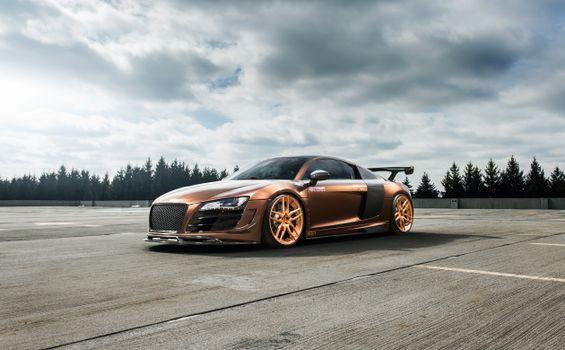 Photo free Audi R8, cars, copper color