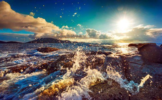 Фото бесплатно море, волны, природа