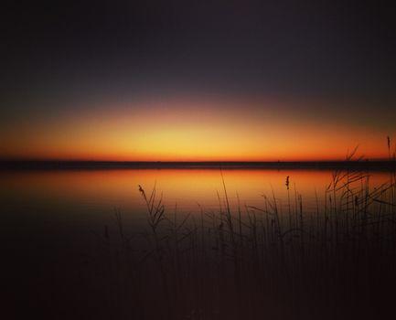 Photo free sunset, horizon, lake
