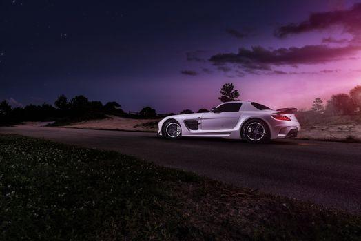 Заставки AMG, Mercedes Benz, белый