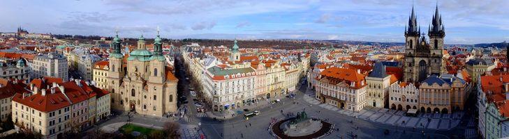 Обои Praha, Czech Republic, Прага, Чехия, панорама