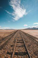 Фото бесплатно железная дорога, горизонт, небо