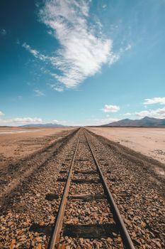 Заставки железная дорога, горизонт, небо