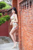 Photo free asian dress, glance brunette girl, asian