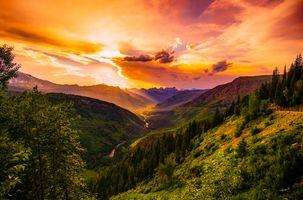 Заставки Монтана, закат, сумерки