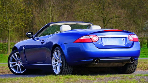 Photo free Jaguar XK Convertible, sport, blue