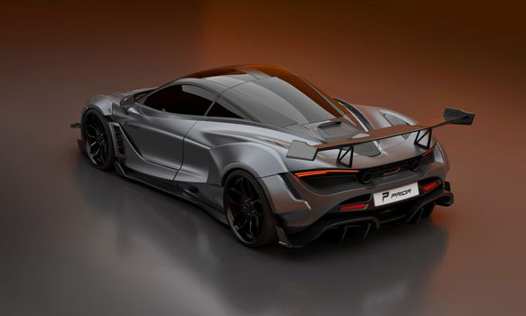 Photo free gray, rear view, supercars