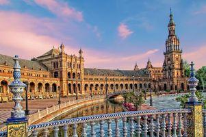 Фото бесплатно Площадь Испании, Севилья, Испания