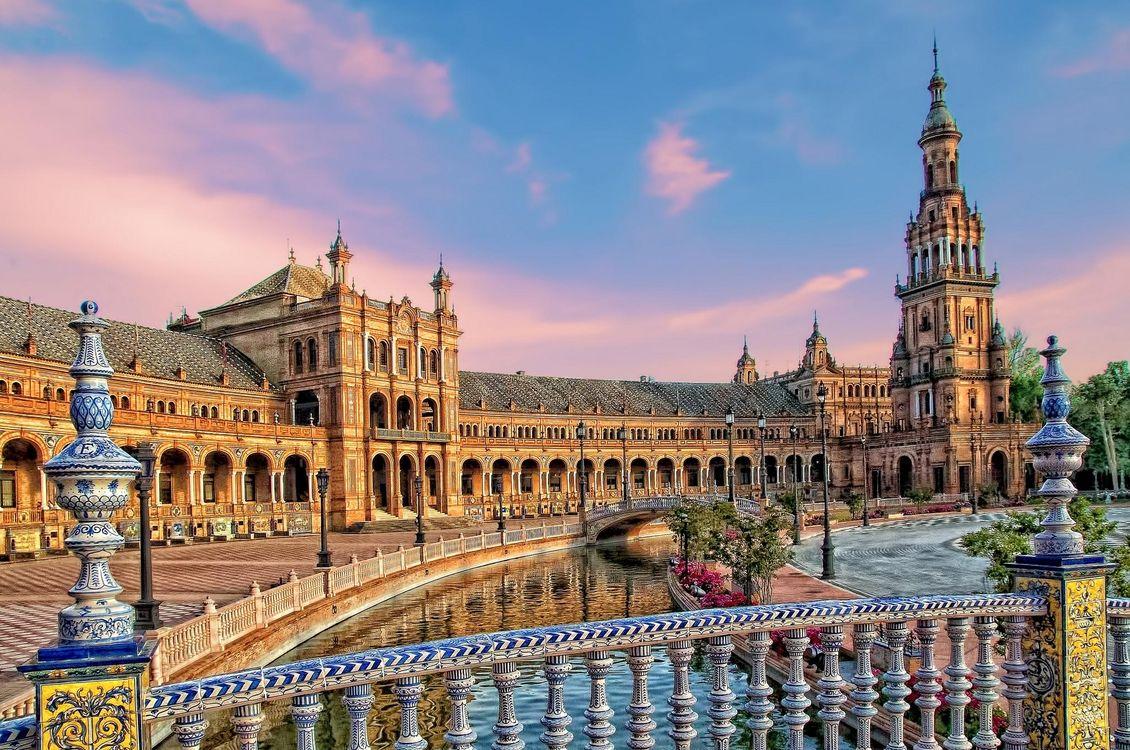 Фото бесплатно Площадь Испании, Севилья, Испания - на рабочий стол
