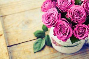 Photo free roses, bouquet, vase