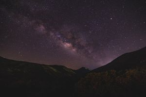 Photo free starry sky, mountains, night