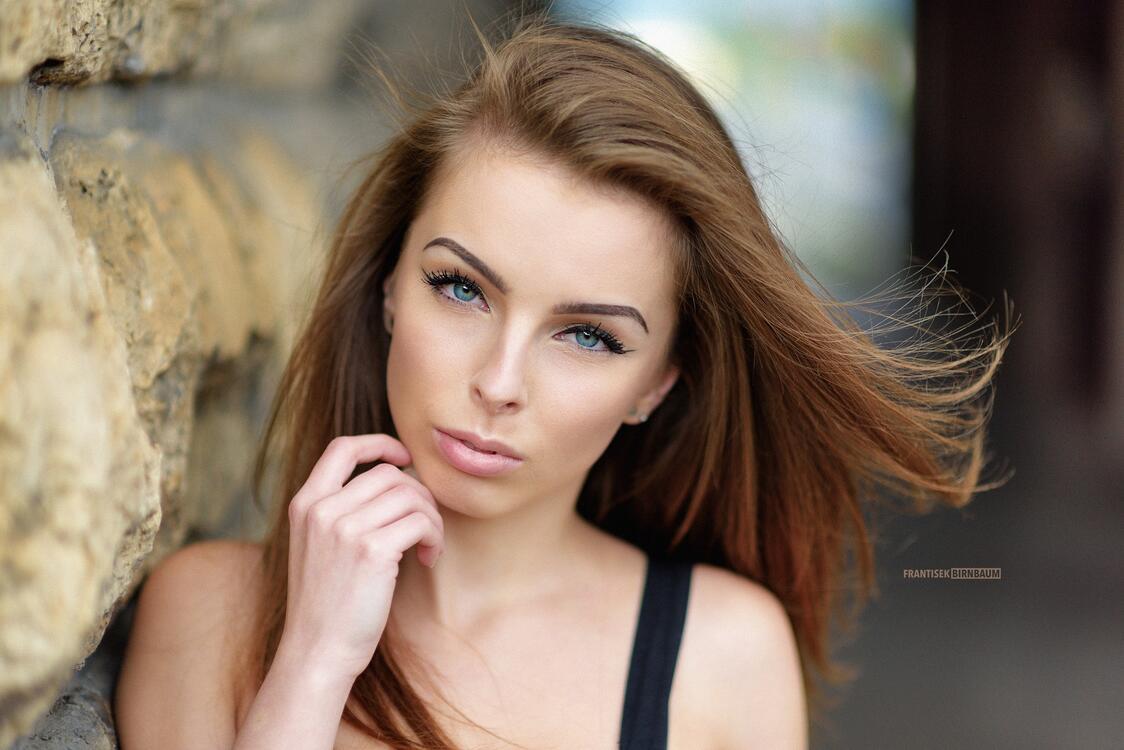 Фото женщина девушки голубые глаза - бесплатные картинки на Fonwall
