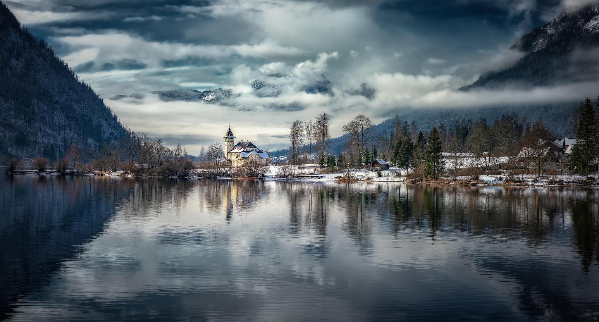 Обои Альпы, Австрия, горы, озеро