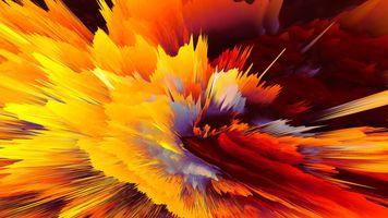 Фото бесплатно цифровое искусство, желтый, красный
