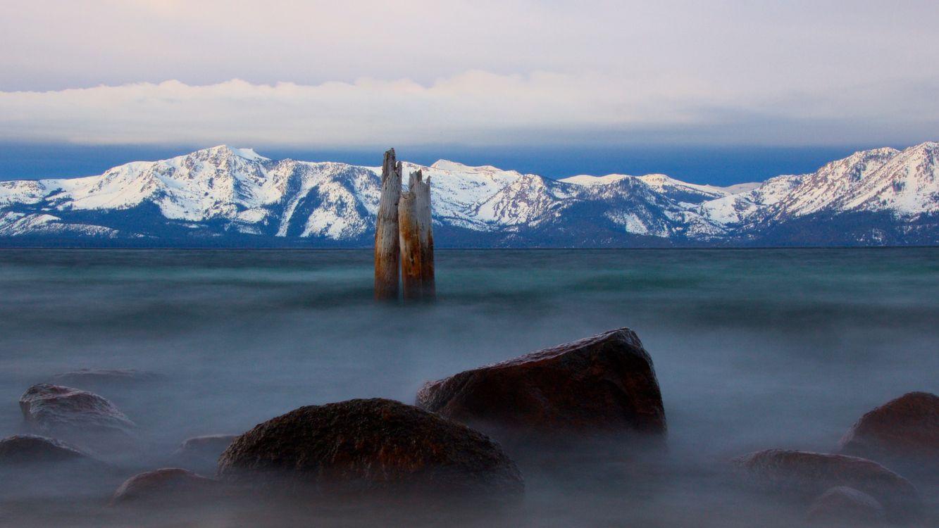 Фото озеро тахо туман горы - бесплатные картинки на Fonwall