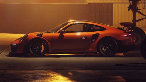 Фото бесплатно автомобили 2018 года, художник, Porsche 911