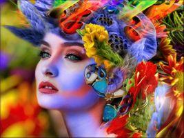 Фото бесплатно Цветочная Леди, девушка, красотка