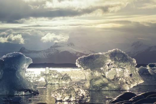 Заставки лед, океан, небо