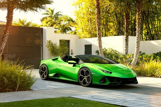 Photo free 2019 cars, Lamborghini Huracan Evo Spyder, cars