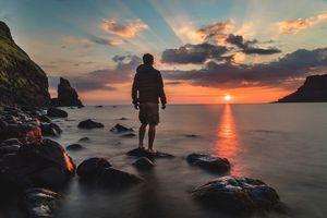 Фото бесплатно человек, пляж, море