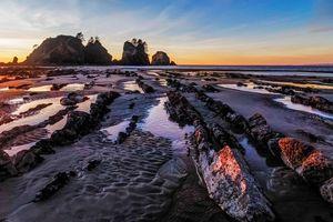 Бесплатные фото Olympic National Park,закат,море,скалы,берег,пейзаж