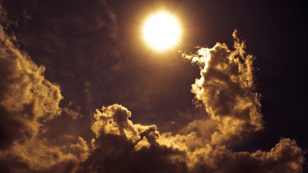 Photo free sun light, sky, clouds