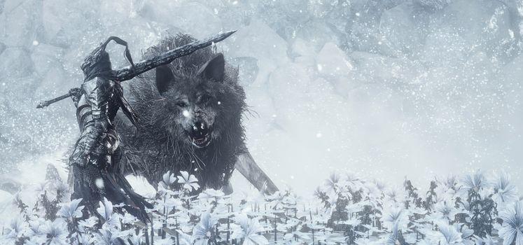 Заставки темные души III, и волк, рыцарь