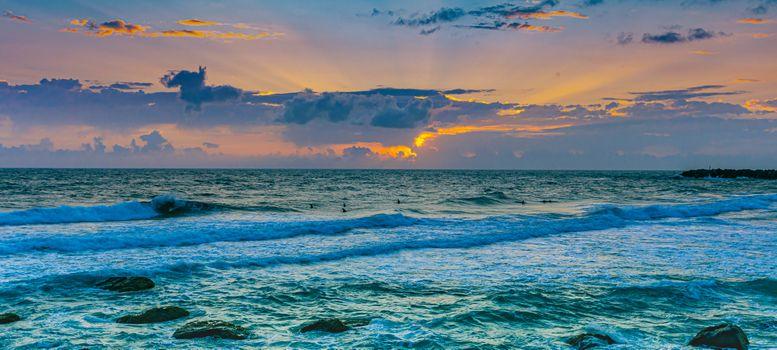 Photo free sunset, sea, ocean