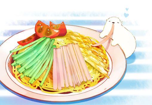 Заставки овощи, вкусные, anime food