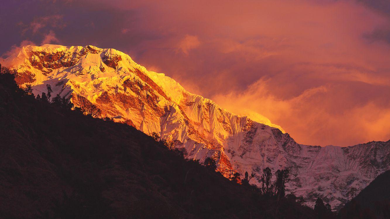 Фото бесплатно Гималаи, закат, горы - на рабочий стол