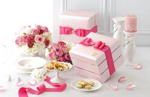 Фото бесплатно korobki, dekor, cvety