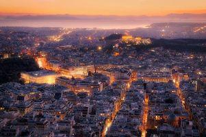 Бесплатные фото Вид на Афины с горы Ликабеттус,Афины,Греция