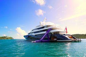 Фото бесплатно море, яхта, острова