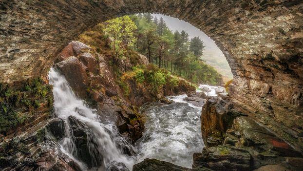 Photo free river, bridge, arch