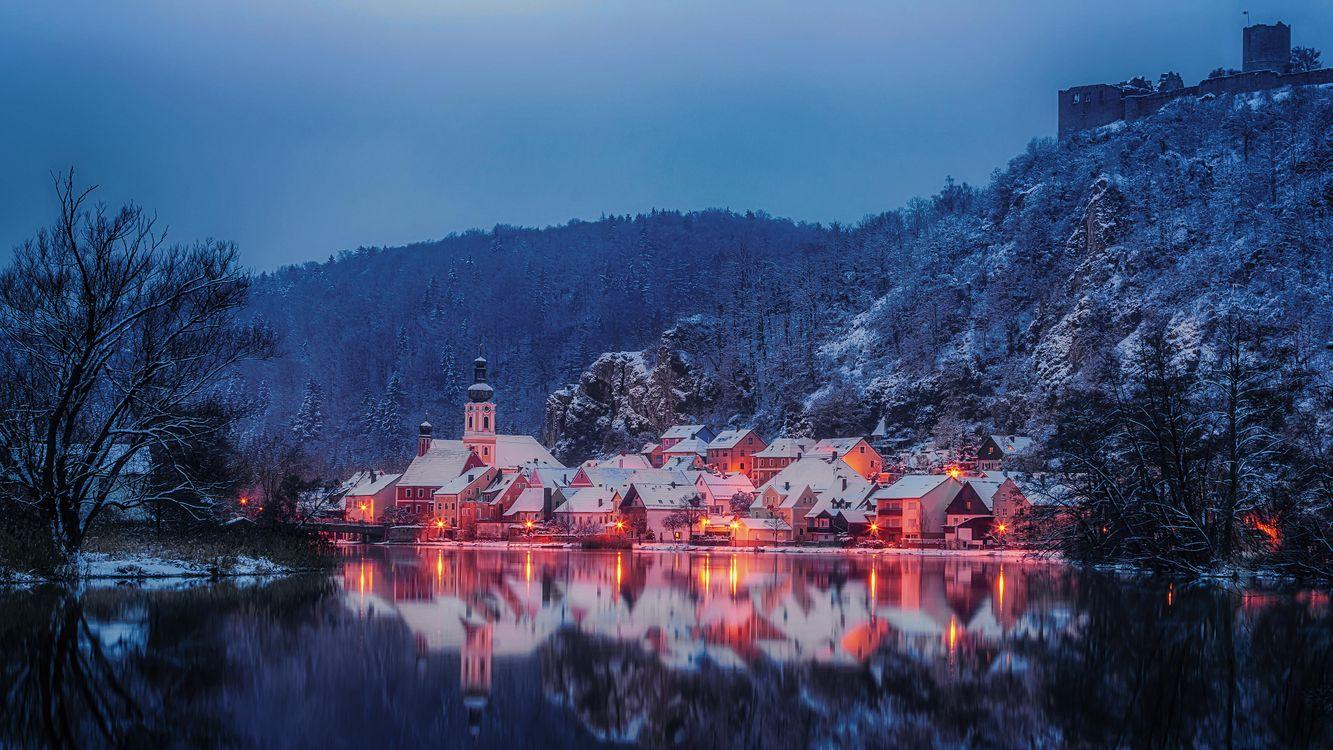 Фото бесплатно Калльмюнц, зима, Bavaria, Германия, город