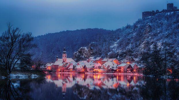 Бесплатные фото Калльмюнц,зима,Bavaria,Германия