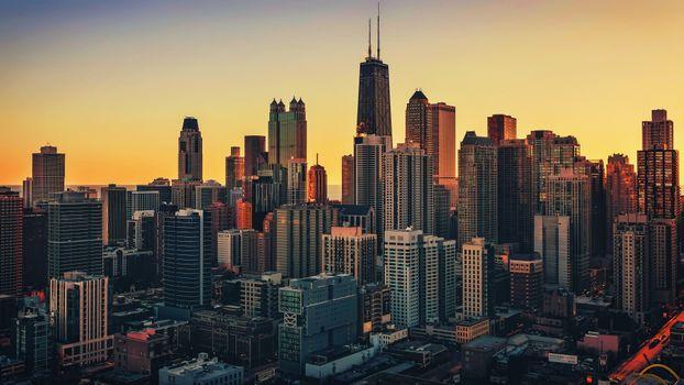 Photo free Chicago, city, cityscape